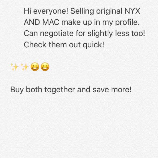 MAC and NYX In My Listing
