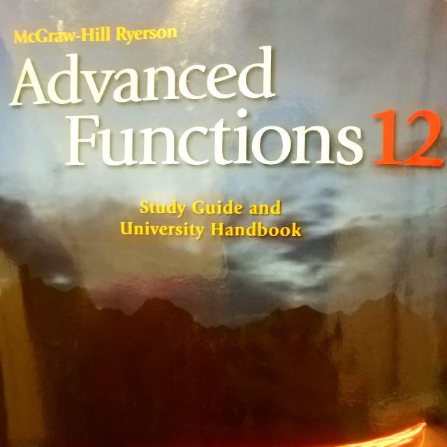 McGraw-Hill Ryerson Advanced Functions Textbook