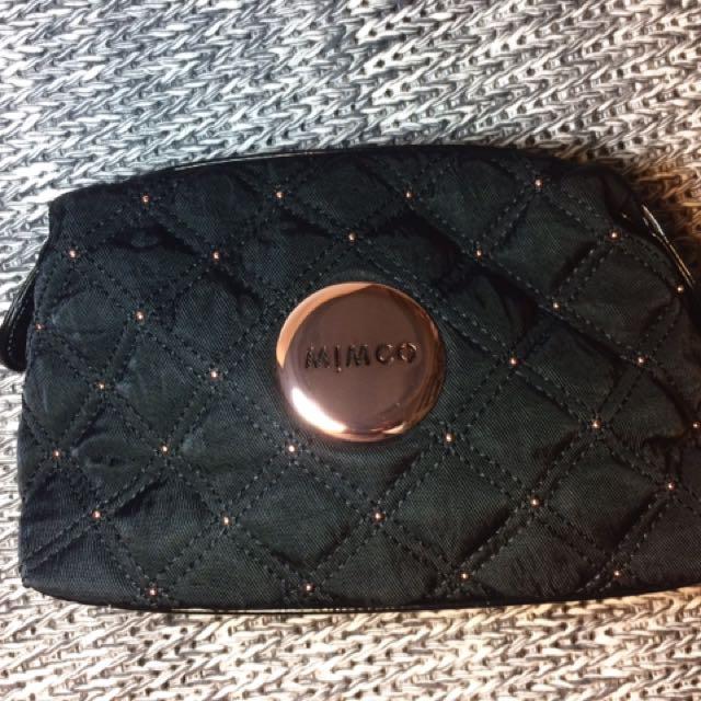 Mimco Rose Gold Studded Make Up Bag