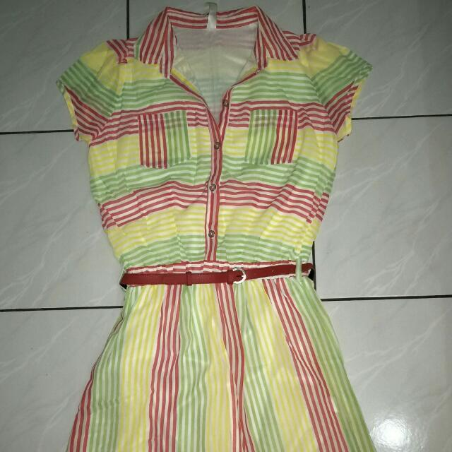 Mini Dress Rainbow