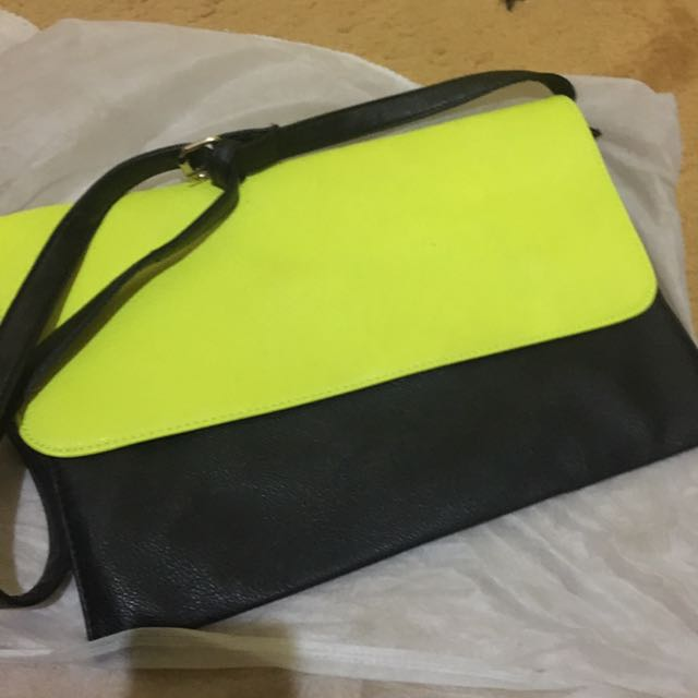 neon black fladeo bag