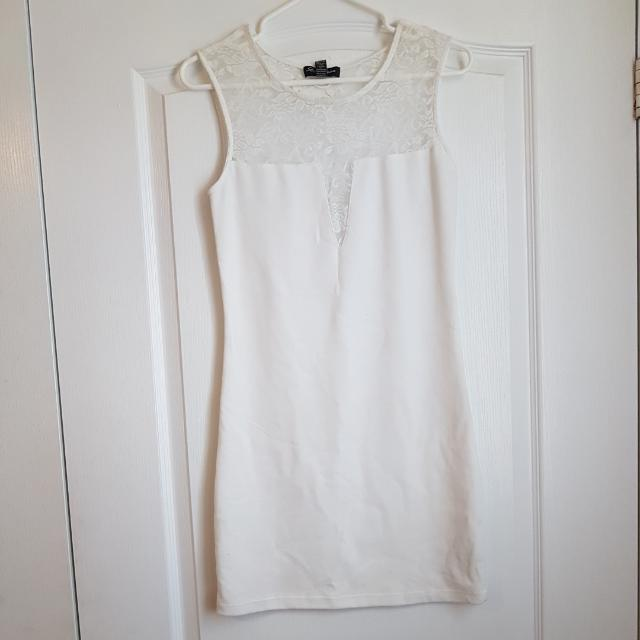 New White Lace Summer Dress