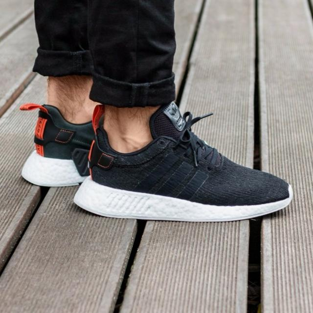 super popular 03152 6652e 🔥Adidas NMD R2 Black White Future Harvest, Sports, Sports