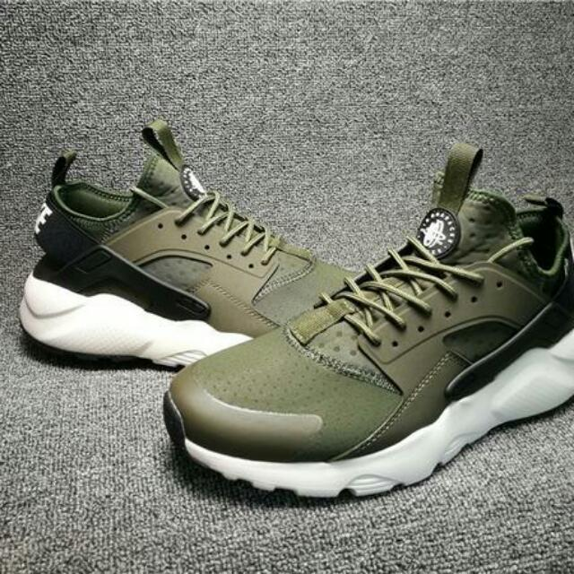 wholesale dealer 393d9 1f6a3 Nike Air Huarache Run Ultra Army Green, Mens Fashion, Footwe