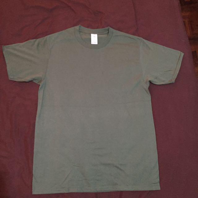 Olive Green Cotton Shirt