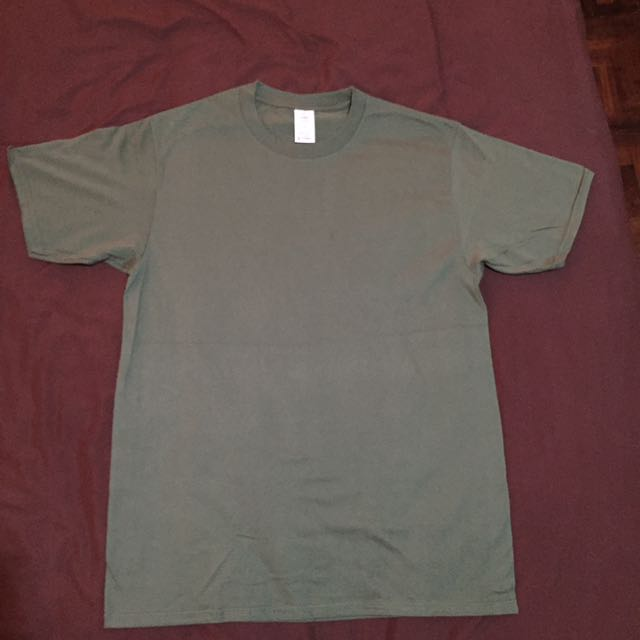 Olive Screen Cotton Shirt
