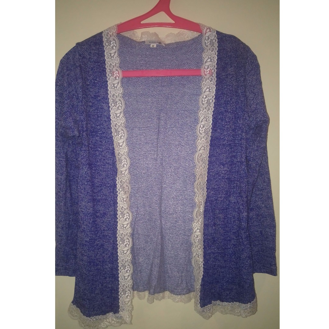 Outer Biru semi cardigan