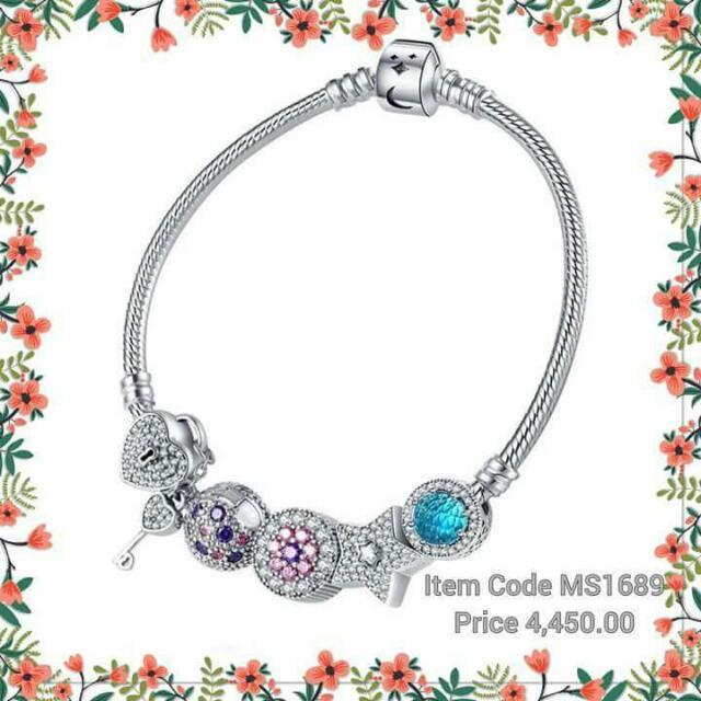 Pandora Silver Bangle