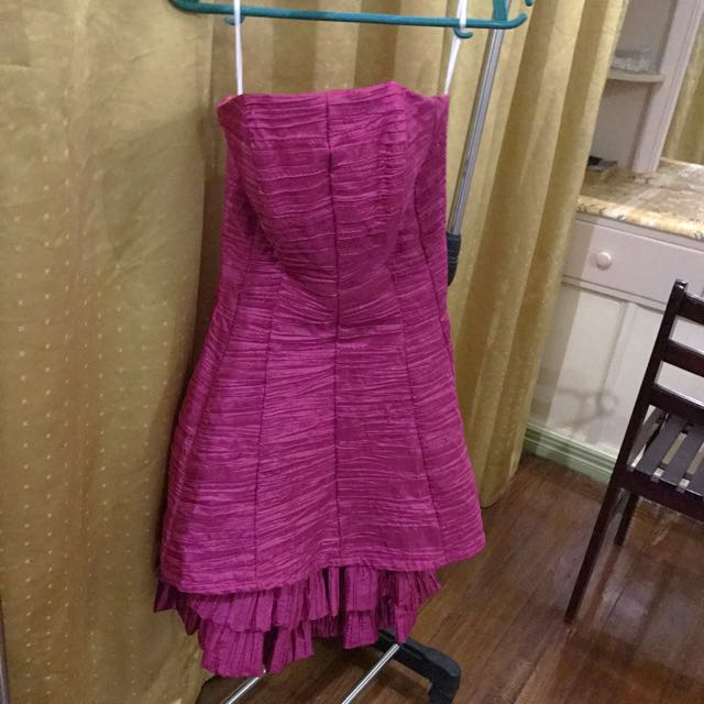 Pink tube gown