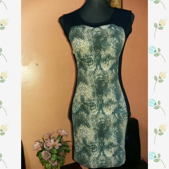 ⭐SALE⭐Preloved Animal Print Body Con Dress