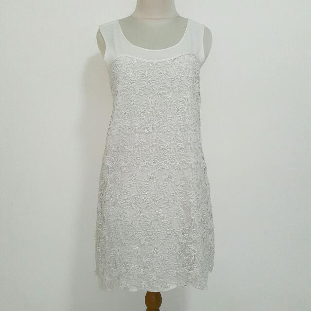 Preloved Off White Mango Dress