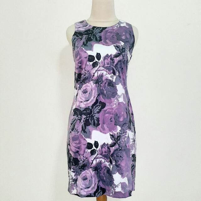Preloved Purple Rose Dress