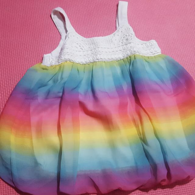 Preloved The Childrens Place Rainbow Dress