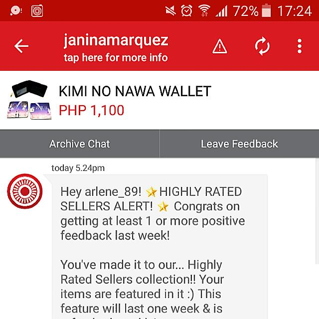 PROUD TO BE HIGHLY RATED SELLER HERE😀❤💕 SPECIAL THANKS TO CAROUSELL❤💓💞