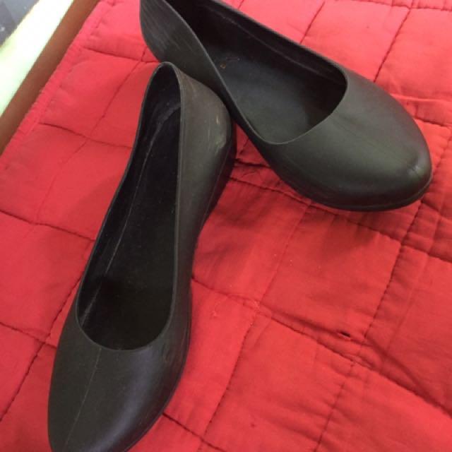 Rubber Black Shoes