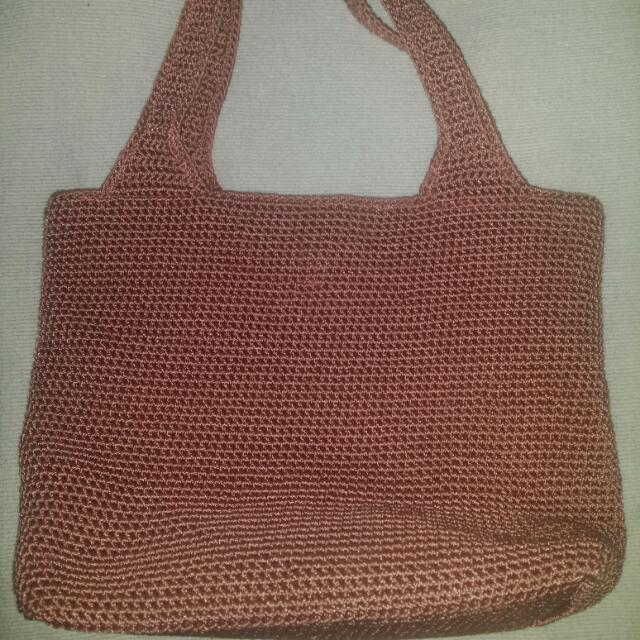 (Authentic) The SAK Classic Crochet Handbag in Old Rose