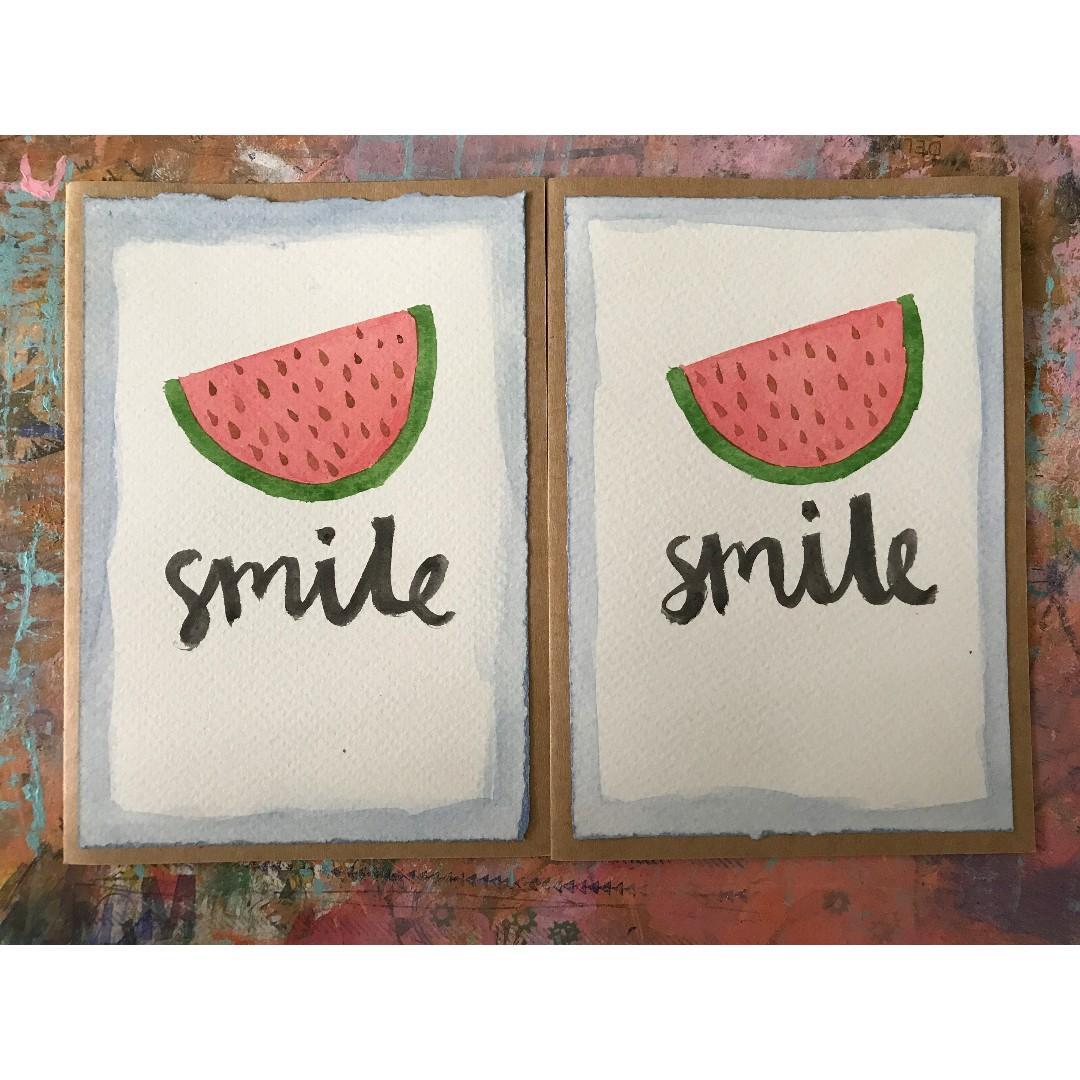 """Smile"" - handmade card"