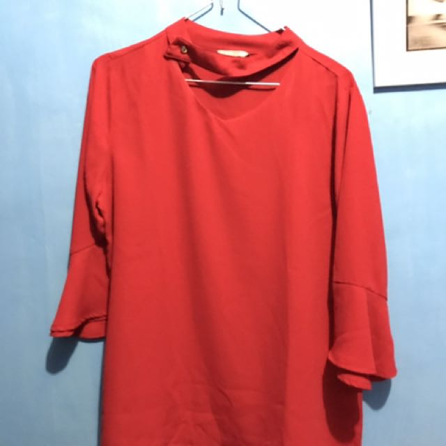 St. Yves / Ives Red Blouse Big Size