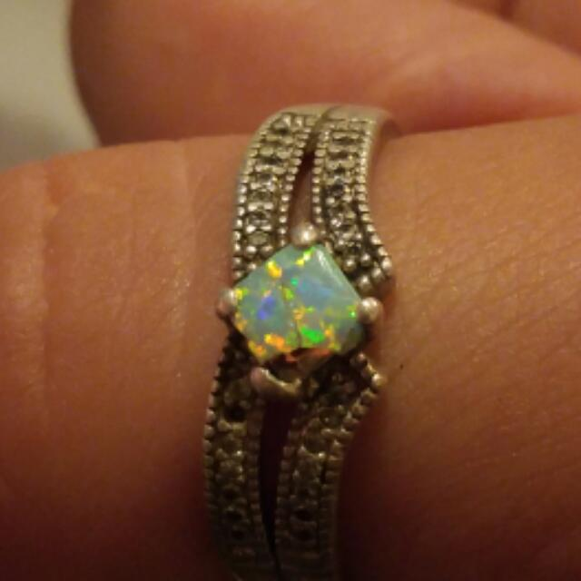 Sterling silver jewel ring
