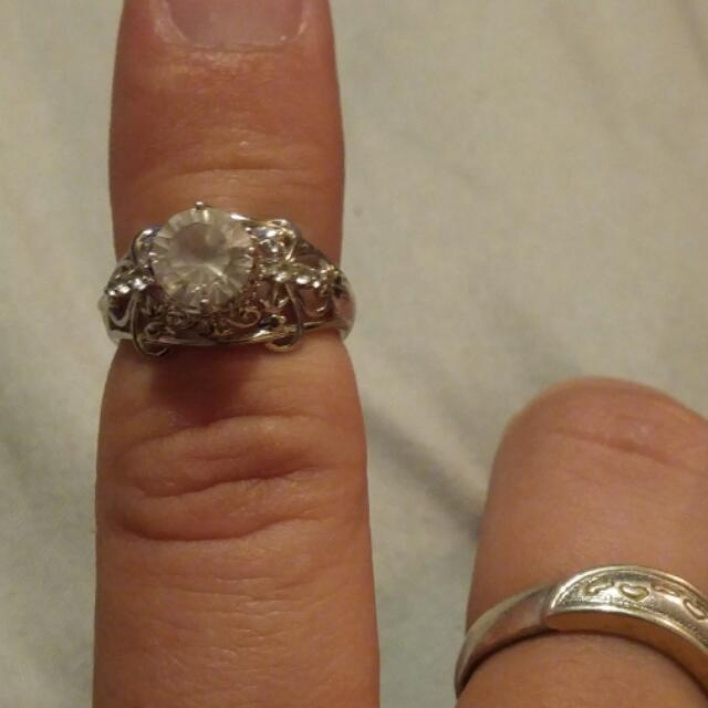 Sterling silver ring and