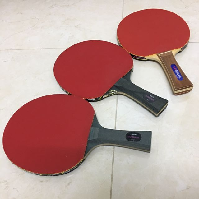 Stiga And Butterfly Table Tennis Rackets