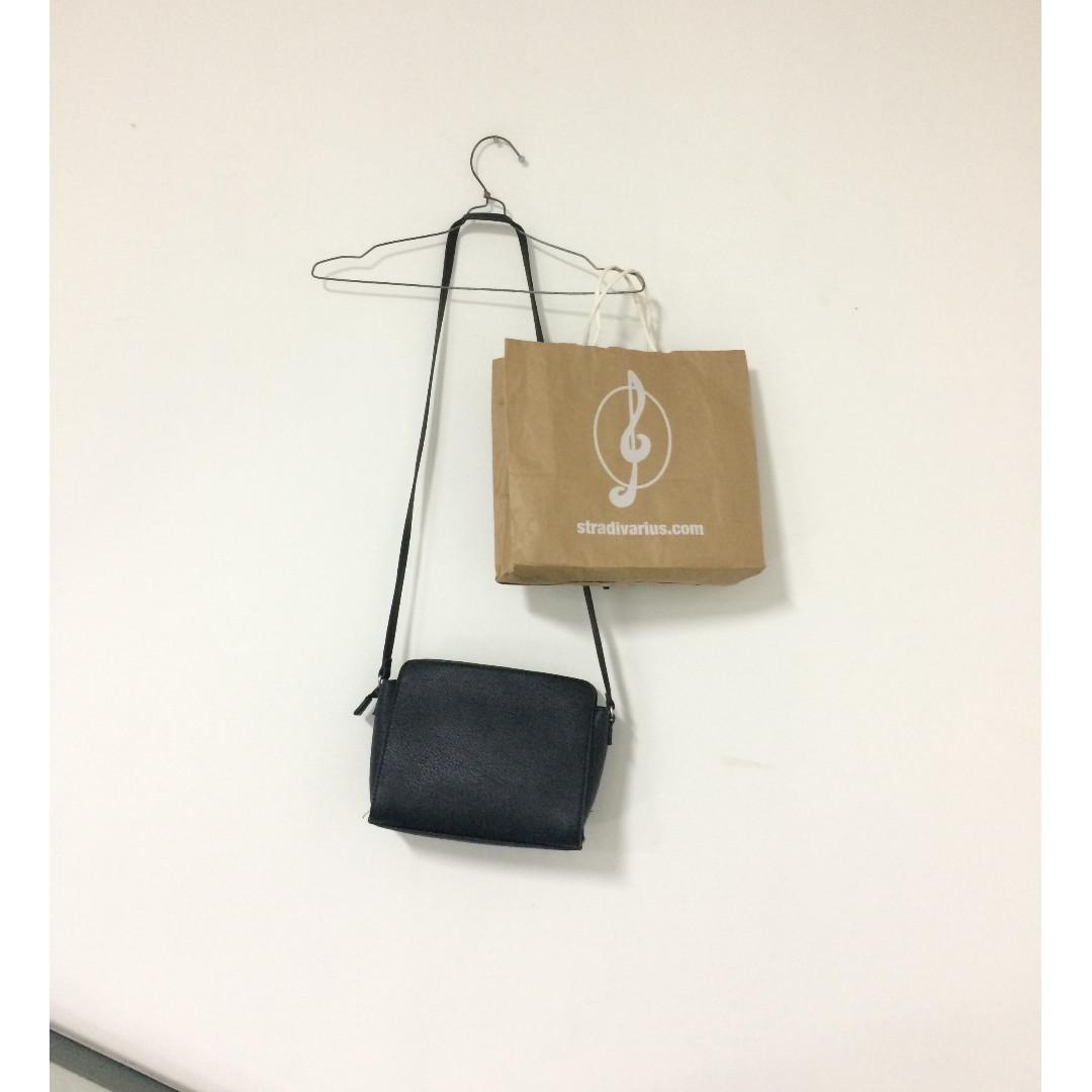 Stradivarius Black Sling Bag
