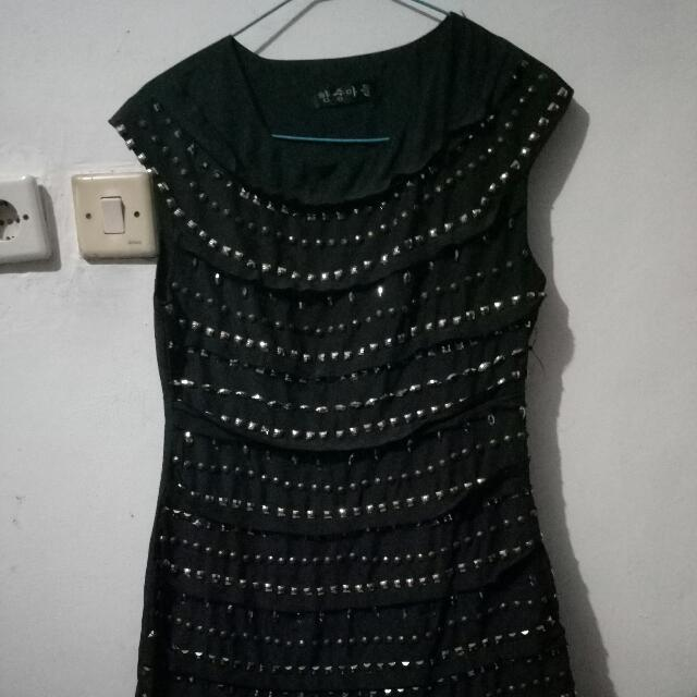 #midnitesale Only Today Studded Black Layered Dress