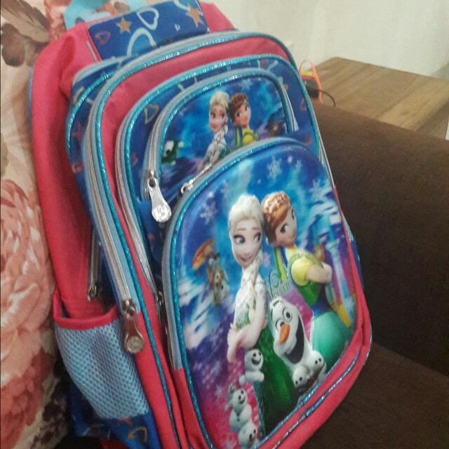 Tas Sekolah Frozen Import jarang dipake