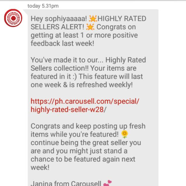 Thank you, Carousell! ✨