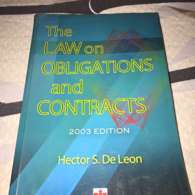 The Law Of Obligation And Contracts