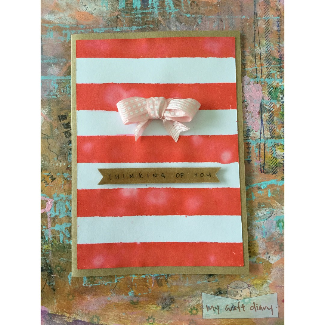 """""""Thinking of you"""" - handmade card"""