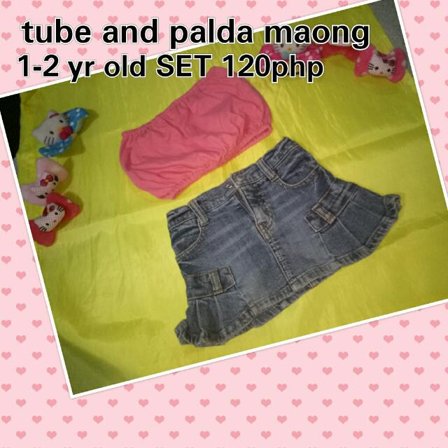 Tube And Palda Maong Set