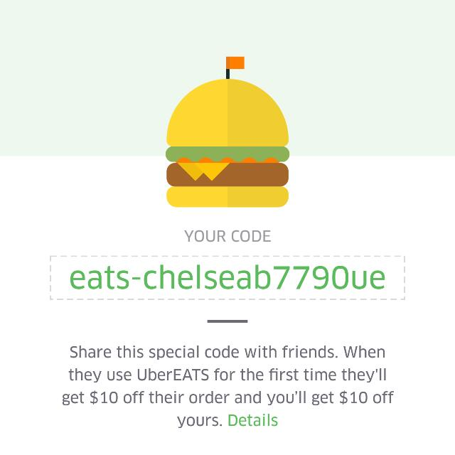 Uber Eats Code!