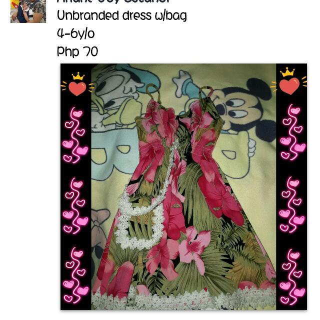 Unbranded Dress W/bag