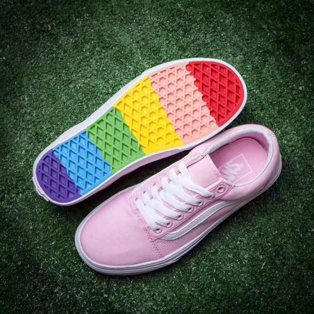Vans Old Skool Classic Rainbow Pink Quot Women S Fashion