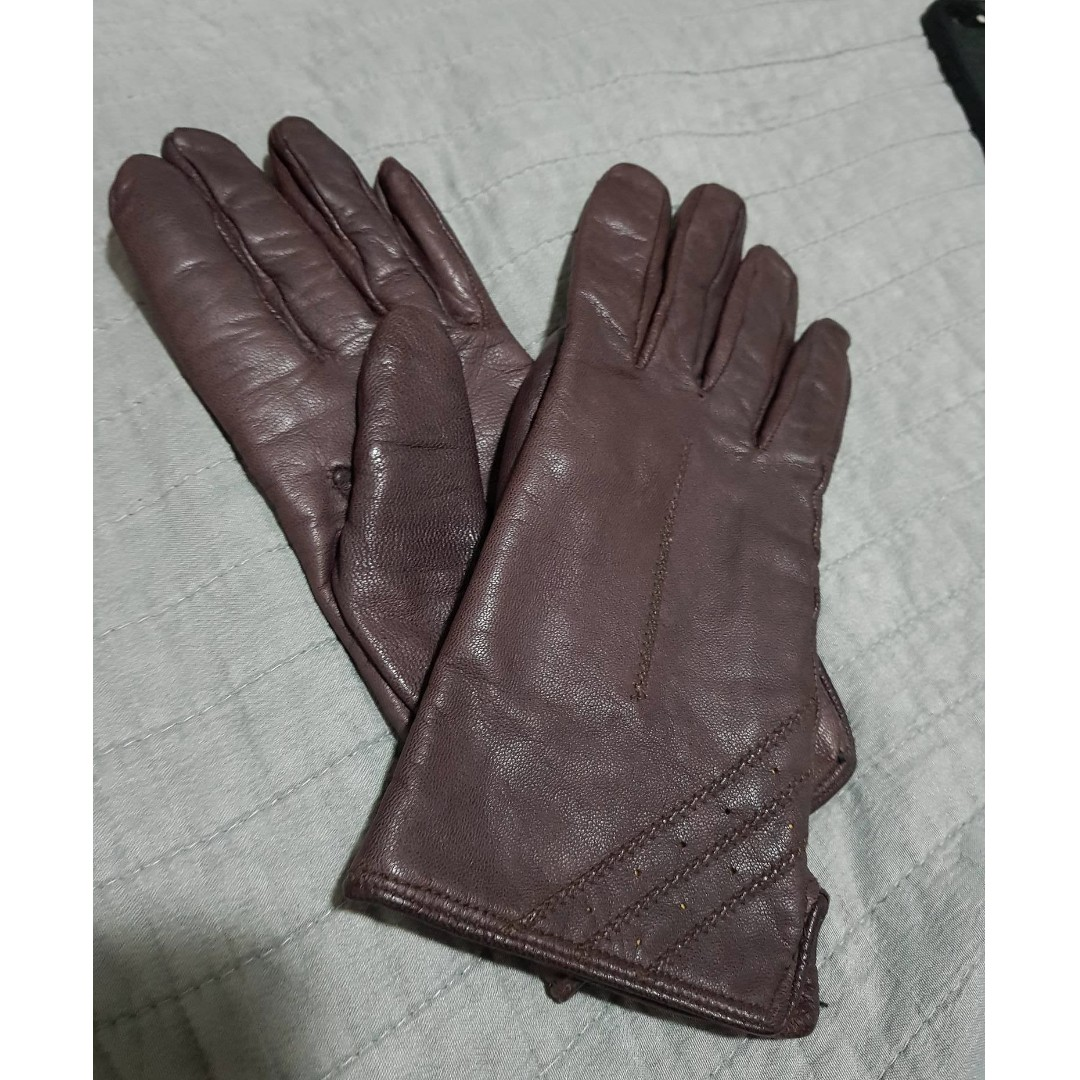 Vintage Cow Leather Padded Gloves