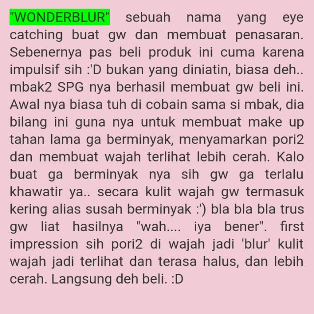 Wonderblur Bodyshop