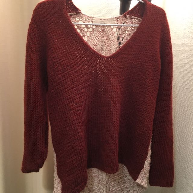Zara Knit Fuzzy Sweater