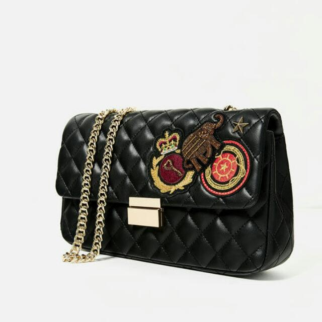 3d28a8307ac Zara Quilted Patches Crossbody Bag, Women's Fashion, Bags & Wallets ...