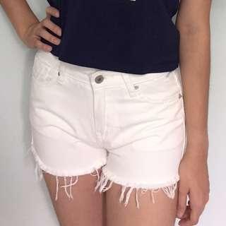 READY STOCK White denim shorts