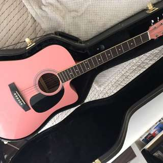 Jay Jr. Pink Guitar