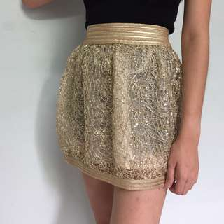 BRAND NEW Golden Party Skirt (Good Quality)