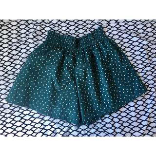 Garterized Polka dots shorts (used once)