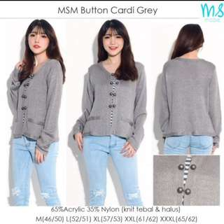 MSM Button Cardi Grey