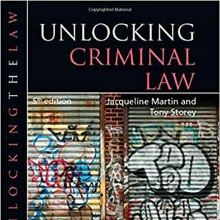 Unlocking Criminal Law (Unlocking the Law) 5th Edition