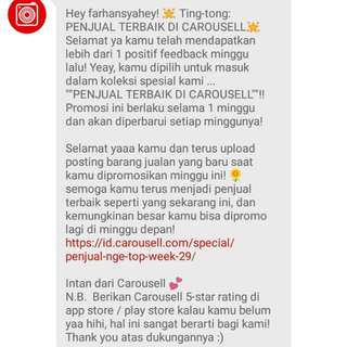 testimonial from Carousell