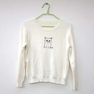 貓咪毛衣 Fleece sweater with cat