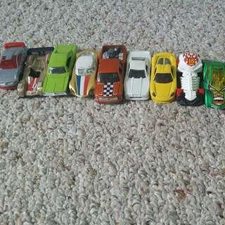 9 Hot Wheels Cars