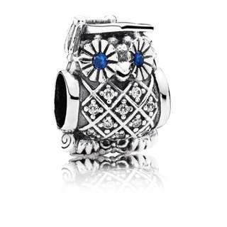 Brand New, Still In Box Pandora Owl Graduation Charm