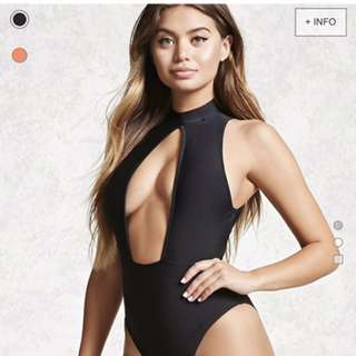 FOREVER 21 CHEEKY ONE PIECE BATHING SUIT